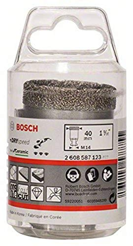 Bosch 2 608 587 123 - Coronas de diamante para perforación en seco Dry Speed Best for Ceramic (40 x 35 mm)