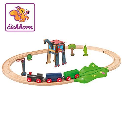 Eichhorn 100001261 - Schienenbahn mit Zubehör, Streckenlänge: 205cm, FSC 100{d0c91417d53346a4a8f51c86d3da85ea2469ea87d9e7bfdd1a6ca763df84aa0f}, Buchenholz