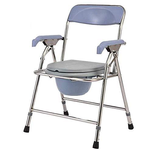 Z-SEAT Silla con Inodoro Plegable Silla de Inodoro Silla móvil con Inodoro para discapacitados, discapacitados, Personas Mayores, Plegable