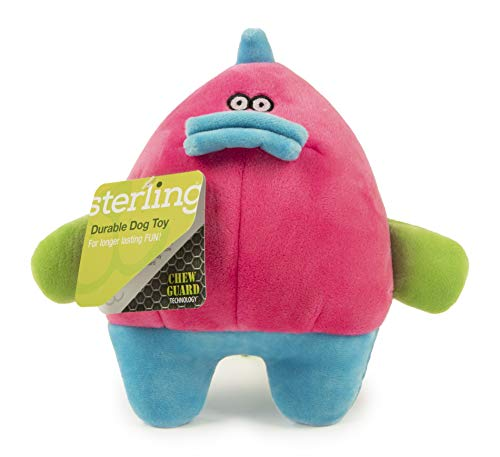 Sterling Grumpy Fat Dino with Chew Guard Technology Durable Plush Squeaker Dog Toy Large, Pink, (Model: 70522-29995-008)