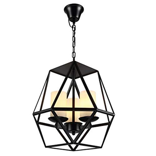 Raxinbang Luces de Techo Restauración de la luz de la Industria de Las Velas de Hierro Forjado Droplight para el Restaurante Bar Cafe