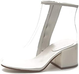 Super bang Fashion Lady Transparent Lightweight Breathable Thick Ankle Boots