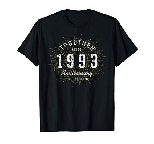 27 Años Juntos Desde 1993 27 Aniversario Camiseta