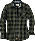 Legendary Whitetails Women's Trail Guide Fleece Button Down, Night Forest Plaid Green, X-Large