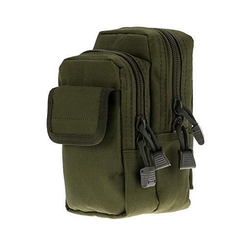 Yalatan Ceinture Militaire résistante à l'usure (Tactique), Sac de Taille en Nylon pour vêtements de Sport Multifonctionnel Durable et portatif en Plein air pour Adultes