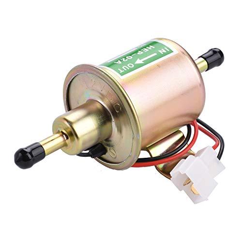 APIELE Bomba de combustible eléctrica universal, 12 V, baja presión, 4 – 7 PSI, bomba de gasolina, bomba diésel para motocicleta, suministro de combustible HEP-02A