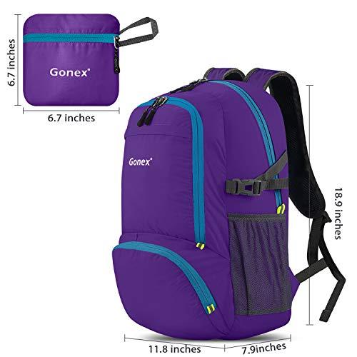 Gonex 30L Lightweight Packable Backpack Handy Travel Daypack