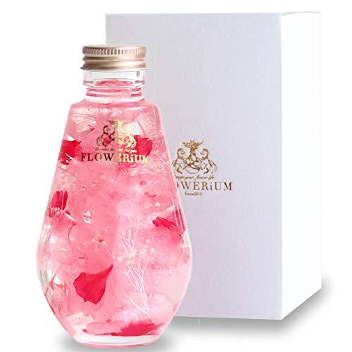 [フラワリウム] カーネーション入り 贈り物 フラワーギフト 誕生日プレゼント 女性 ホワイトデー 母の日 ハーバリウム ドロップボトル ピンク