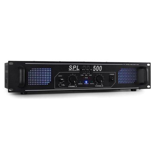 Skytec SPL500 Amplificador DJ 1600W Iluminación LED