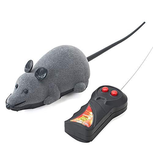 Dongbin Fernbedienung Ratte Plüschmaus Spielzeug Für Katze Hund Kind by Katzen Spielzeug Mit Bewegungsabhängigen Geräuschen Aus Flauschigem,Grau