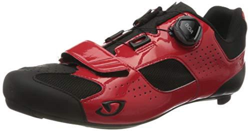 Giro Trans (Boa) Road, Zapatos de Ciclismo de Carretera Hombre, Multicolor (Bright Red/Black 000), 48 EU