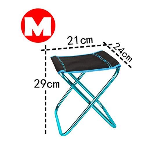 Silla de Camping Plegable Silla de Pesca de Picnic Ligera Paño de Aluminio Plegable Silla de Playa portátil para Exteriores Muebles de Exterior - Azul-M