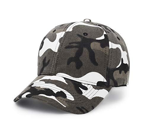 UltraKey Baseballkappen, Militär-Camouflage-Kappen, Schirmmützen, können für Outdoor-Aktivitäten wie Angeln, Verstellbare, Grau