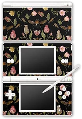 Design folie compatibel met Nintendo DS Lite Designskin Vinyl Stickers Bij Bloemenkrans Bloesem