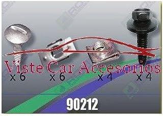 Plast Tornilleria y Clips para Cubrecarter 90215 Accesorios para coche Rezaw