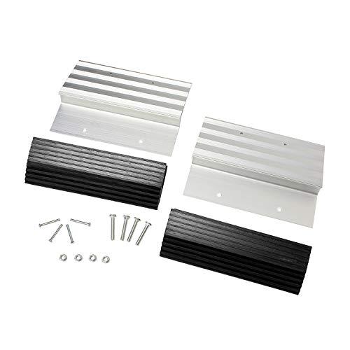 BISupply Aluminum Ramp Kit – 12in Truck Ramp Brackets and Rubber Feet, Tailgate Ramp Kit Ramp Plate Kit