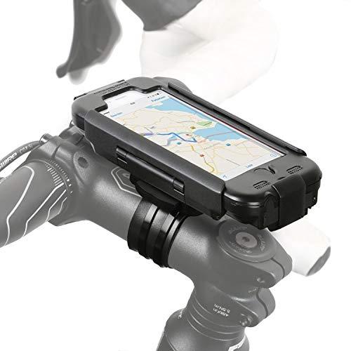 Wicked Chili RainCase 3.0 Fahrrad Halterung kompatibel mit iPhone 6S / 6 (4,7 Zoll) - Bike Regenschutz Set (passgenau, Wasser Schutz IPx4, mit Ladekabel- und Köpfhörer Buchse) schwarz