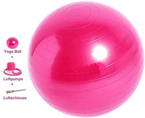 Mupack 55cm Gymnastikball Sitzball Pilates Anti-Burst,Dicker Explosionsgeschützter Pilates Ball mit Pumpe,300KG für Yoga, Fitness,Heim, Büro,Sitzball,Schwangere Frau Gymnastikball und Balance Stuhl