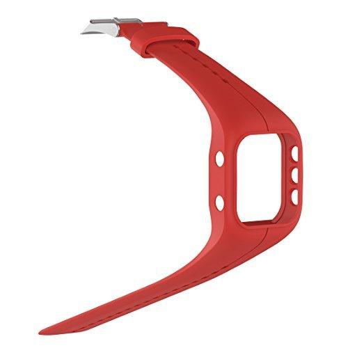 Lokeke Polar A300 - Correa de silicona de repuesto para reloj inteligente (silicona), color rojo
