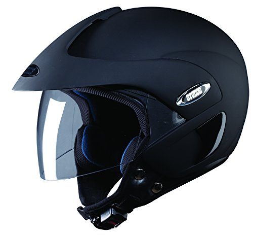Studds Marshall Open Face Helmet (Matt Black, L)