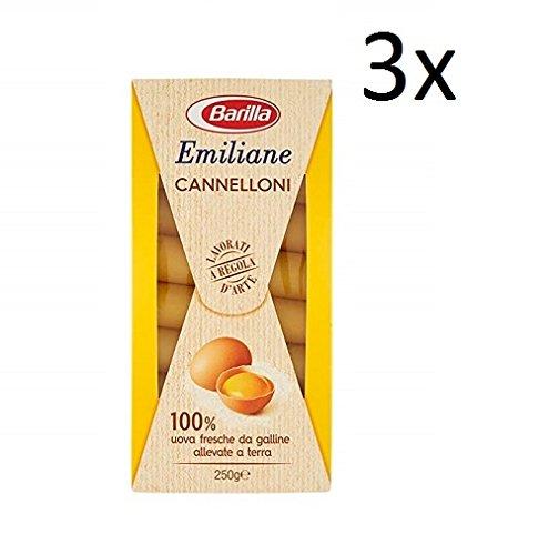 3x Barilla Emiliane cannelloni all'uovo Nudeln mit ei 250g