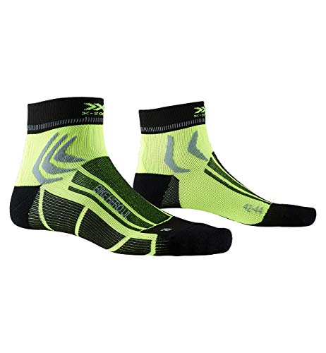 X-Socks Socks Bike Hero Ultra Light, Opal Black/Phyton Yellow, 35-38, XS-BS06S19U-B013-35/38