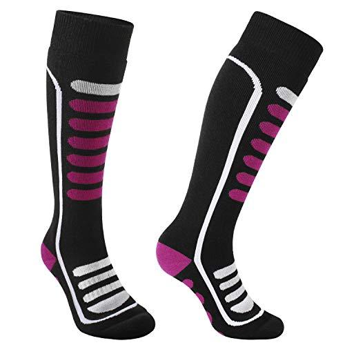 Andake Merino Schafwollsocken Warm Weich Atmungsaktiv Dehnbar Antibakteriell Socken Winter Wandersocken Männer Frauen, Rot-1 Paar, L (43-46)