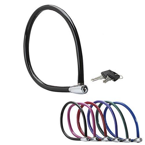 MASTER LOCK Candado Bicicleta [55 cm Cable] [Llave] [Exterior] [Color al Azar] 8630-F - Ideal para Bicicleta, Monopatín, Paseante, Cortacésped y Otro Equipo