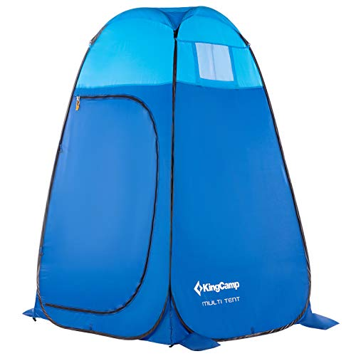 KingCamp Portable Pop Up Privacy Shelter Dressing Changing Privy Tent Cabana Screen Room w Weight Bag for Camping Shower Fishing Bathing Toilet Beach Park, Carry Bag Included, Blue, 47x47x75 inches