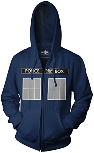 Doctor Who I Am TARDIS Fancy dress costume Hoodie Small