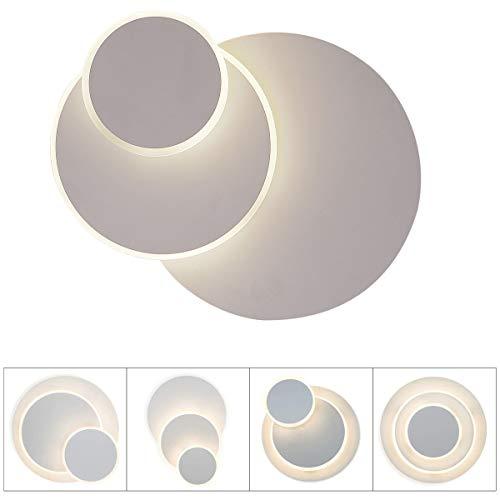 LED Wandleuchte Wandlampe 14W Edelstahl Eclipse 3 in 1 innen Modern Deckenleuchte Deckenlampe Aluminium Leuchten Lampen Spotlicht für Schlafzimmer, Wohnzimmer, 3 gear Light kaltweiß/Weiß/Warmweiß