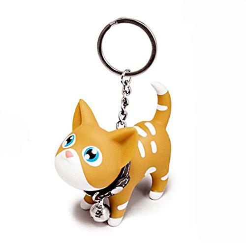 Joyjuly Cat gato Llaveros cadena carcasa Adorable