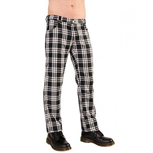 Black Pistol Tartan Pants de Black de White Blanco y Negro 28