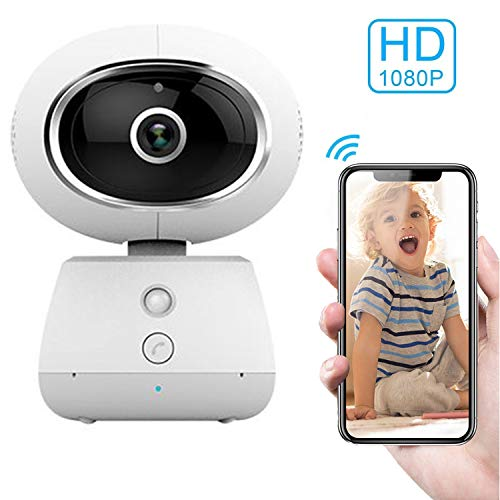 MUXAN Baby Monitor HD Draadloze Smart Camera Cloud Opslag IP WiFi Camera, 1080P Home Beveiliging Camera met Nachtzicht, Bewegingsdetectie, Two Way Audio, voor Baby, Ouder, Huisdier