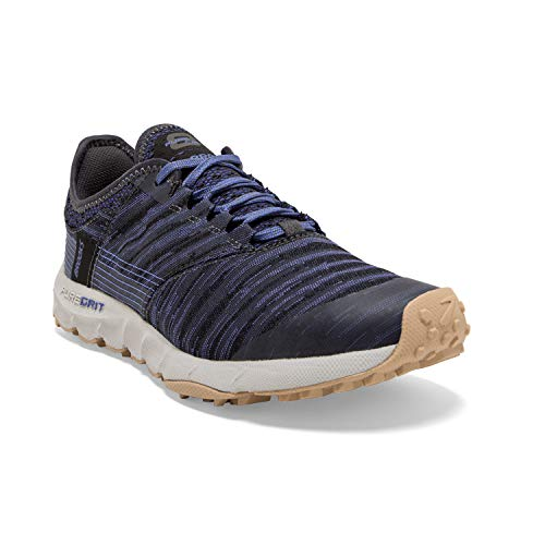 Brooks Womens PureGrit 8 Running Shoe - Black/Amparo Blue/Ebony - B - 8.5