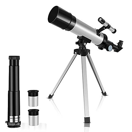 SZRWD Kids Astronomical Telescope, Professional 90X Astronomical Landscape...