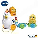 VTech-606322 La gallina y Sus Pollitos cantarines interactivos, Color...