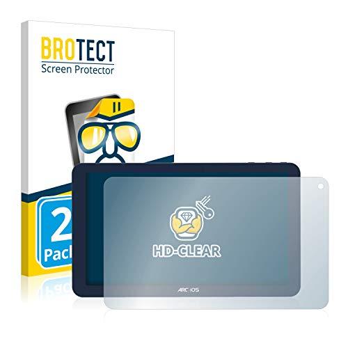 BROTECT Schutzfolie kompatibel mit Archos 101e Neon (2 Stück) klare Bildschirmschutz-Folie