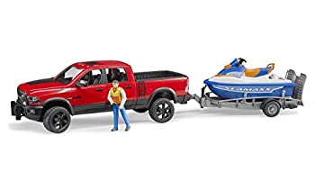 Bruder Ram 2500 Power Wagon with Trailer and Personal Water Craft with Driver Vehicles-Toys
