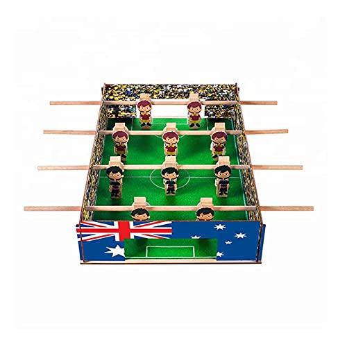 Upmoten Mesa de futbolín, tamaño mini 43 x 26 x 10 cm, divertida, portátil, muy adecuada para sala de juegos, arcade, bar, fiesta, noche familiar
