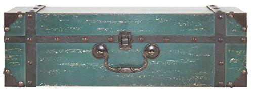 MCS 45887 Vintage Suitcase Wall Shelf in Deep Aqua Finish, 18', 18 Inch
