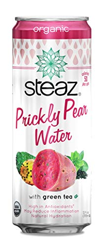 STEAZ Organic Prickly Pear Water With Grn Tea, 12 FZ