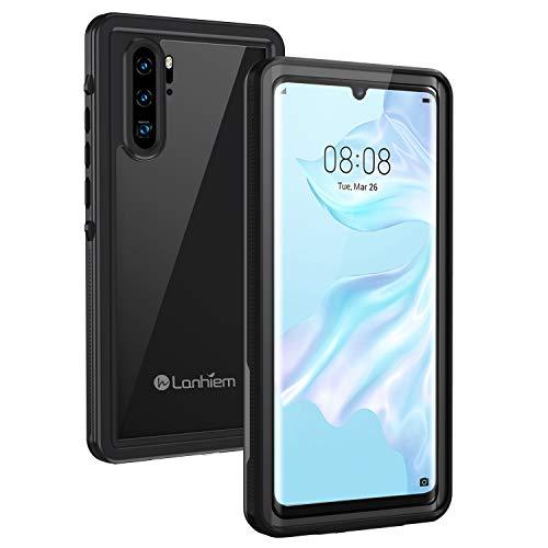Lanhiem Cover Huawei P30 PRO,Custodia Impermeabile P30 PRO[IP68 Certificato Waterproof] Full Body con Protezione dello Schermo Antiurto Antineve Antipolvere AntiGraffio Caso per P30 PRO,Nero