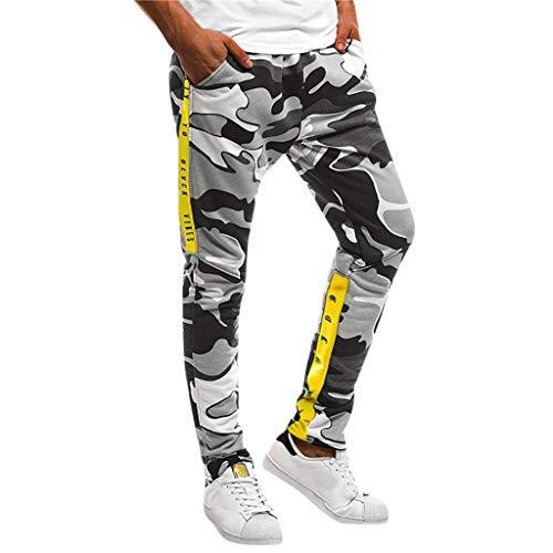 Pantalones para Hombre Largos Moda Camuflaje Delgado Estampado Algodon Bolsillo Pantalones Deportivos Trabajo Corta Pantalones Pants Jogging Fitness Chandal riou