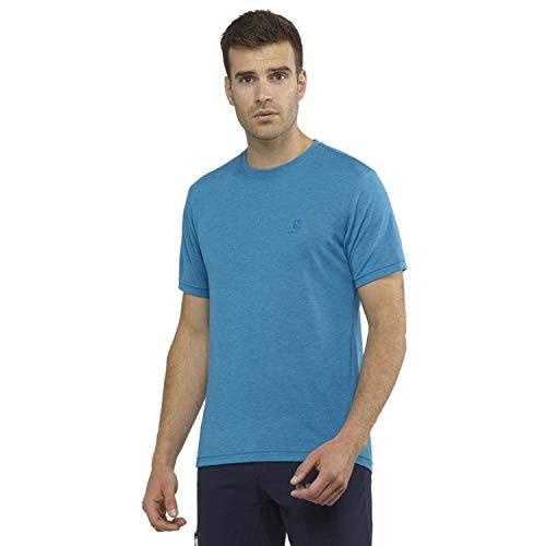 Salomon Explore Graphic SS tee T-Shirt, Hombre, Azul (Everglade), XXL