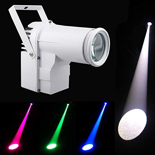 Led Pinspot,DMX 12w Full Color RGBW 4IN1 Led Spot Light, Use For Mirror Ball, Window Display In Boutique, Disco, Ballroom, KTV, Bar,Club, Party, Wedding
