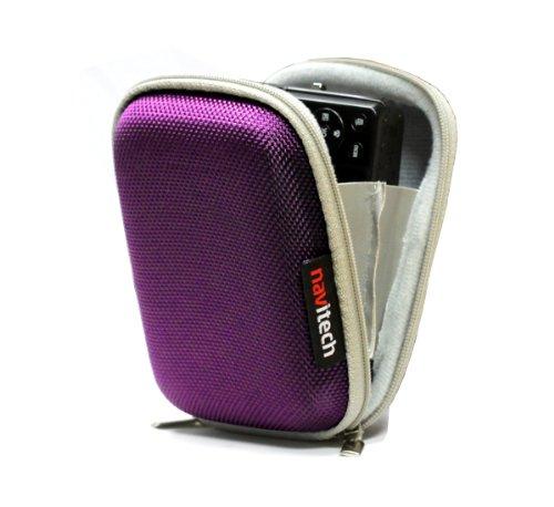 Navitech Lila hartes Wasser-beständiges mp3 Musikabspielgerät Tasche / Hülle für die Philips 4GB GoGear RaGa