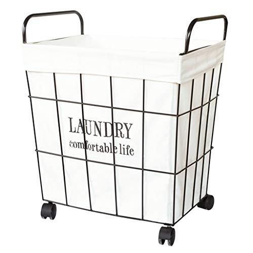 Accessoires pour lave-linges Panier à linge sale vêtements sales panier de rangement pour vêtements sales rétro en fer forgé panier de rangement pour vêtements sales panier à linge ménage panier à lin