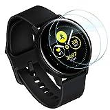Lebama Panzerfolie für Samsung Galaxy Watch Active & Active 2 40mm Schutzfolie Bildschirmschutzfolie Premium Klar Zubehör Bildschirmfolie - 2 x Bildschirm Folie für Samsung Galaxy Watch Active 1 und 2 40 mm