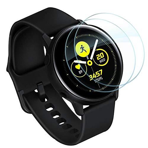 Lebama Panzerfolie für Samsung Galaxy Watch Active und Active 2 40mm Schutzfolie Displayschutzfolie Premium Klar Zubehör Displayfolie - 2 x Display Folie für Samsung Galaxy Watch Active 1 & 2 40 mm